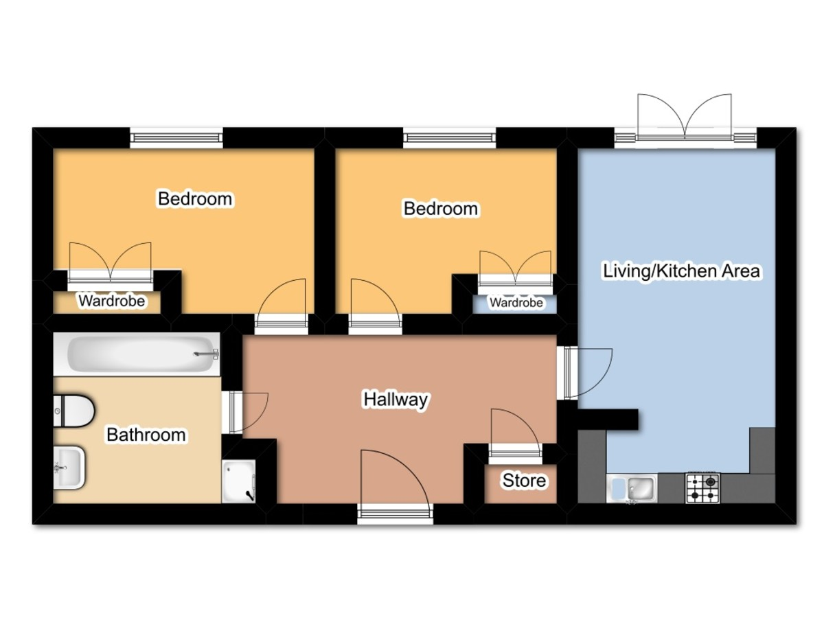 Martin co leicester 2 bedroom apartment for sale in the for Apartment plans book