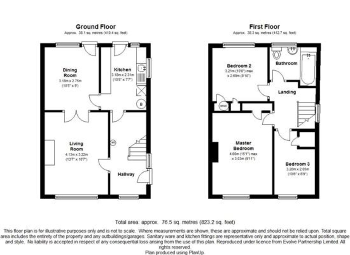 3 bedroom semi detached house floor plan for House plans semi detached