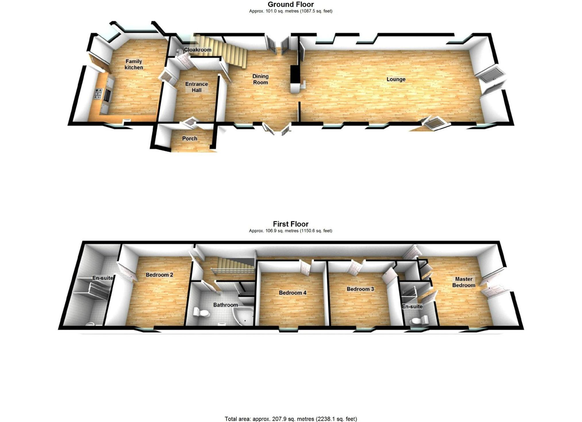 Whitegates heanor 4 bedroom barn conversion for sale in for Barn conversion floor plans