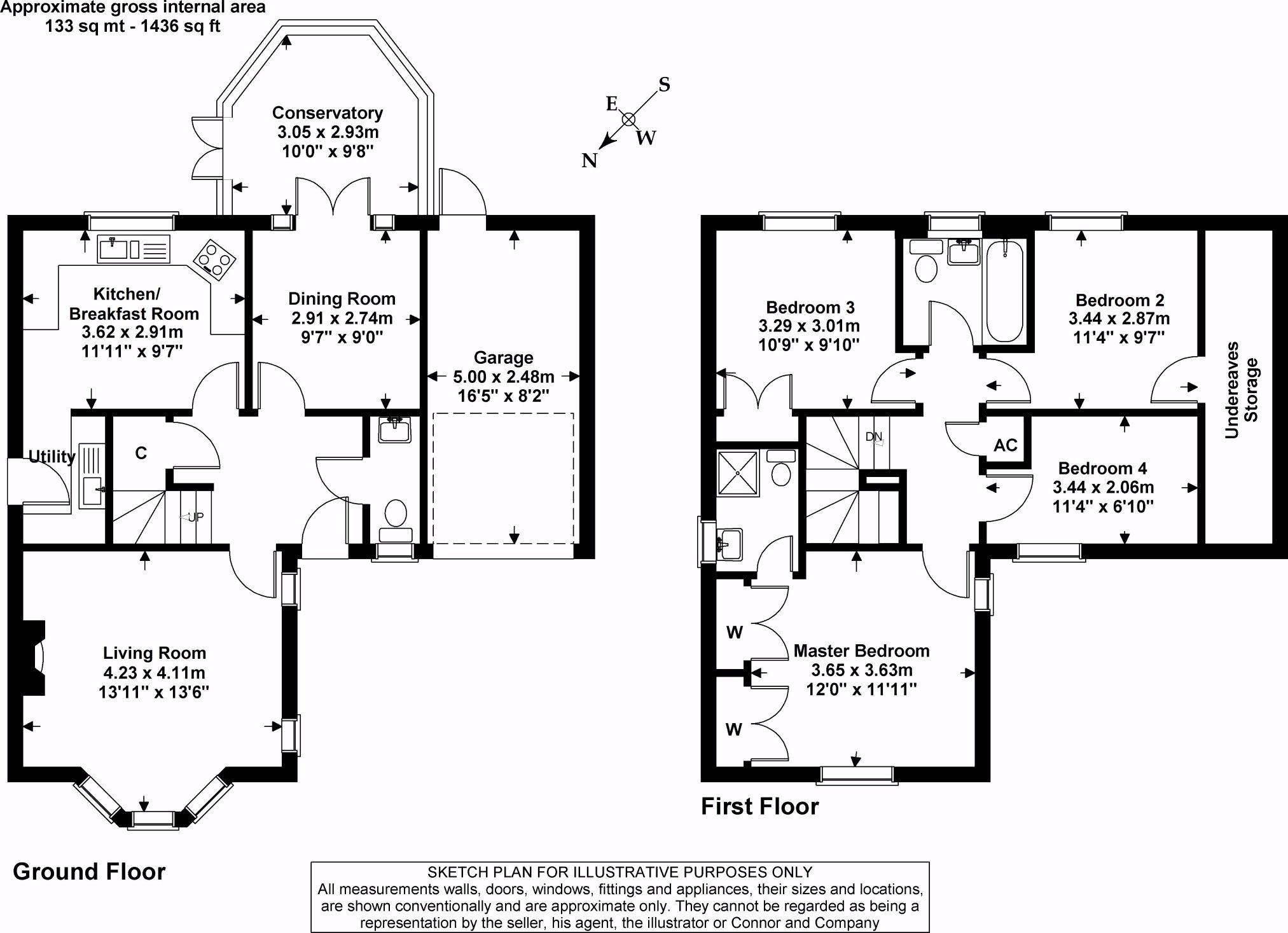 CJ Hole Cheltenham 4 bedroom Detached House for sale in Up Hatherley – Bryant Homes Floor Plans
