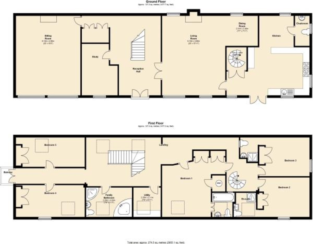 Martin Co Gainsborough 5 Bedroom Barn Conversion For
