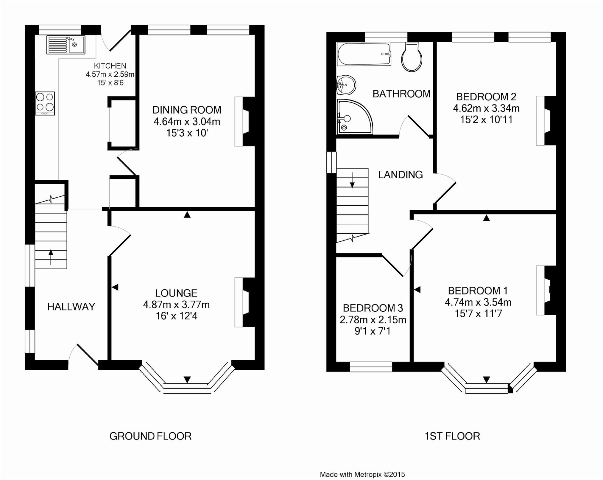 Cj hole brislington 3 bedroom semi detached house for sale for Floor plans for a semi detached house extension