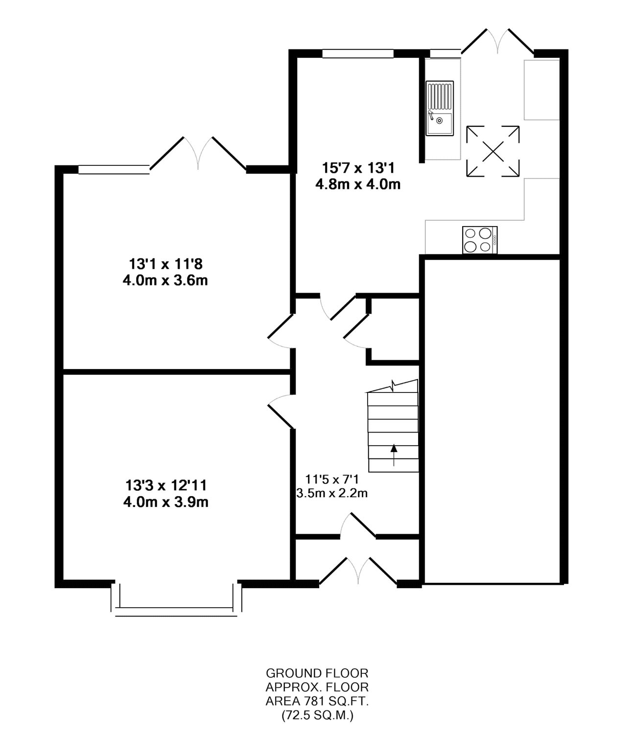 Floorplan of 4 bedroom House for sale