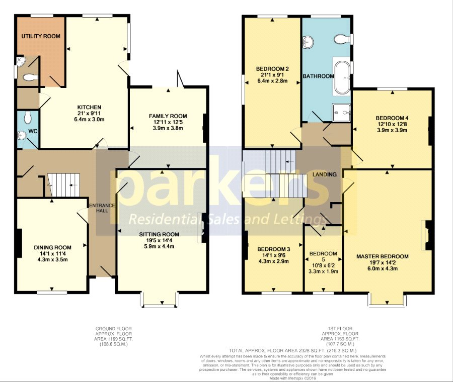 Floorplan of 5 bedroom House for sale