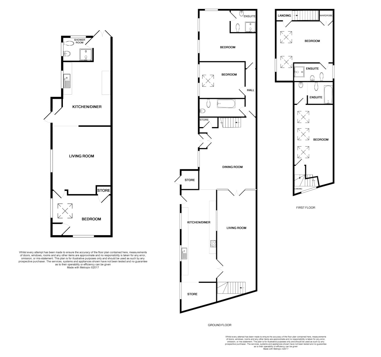 Floorplan of 4 bedroom Barn Conversion for sale