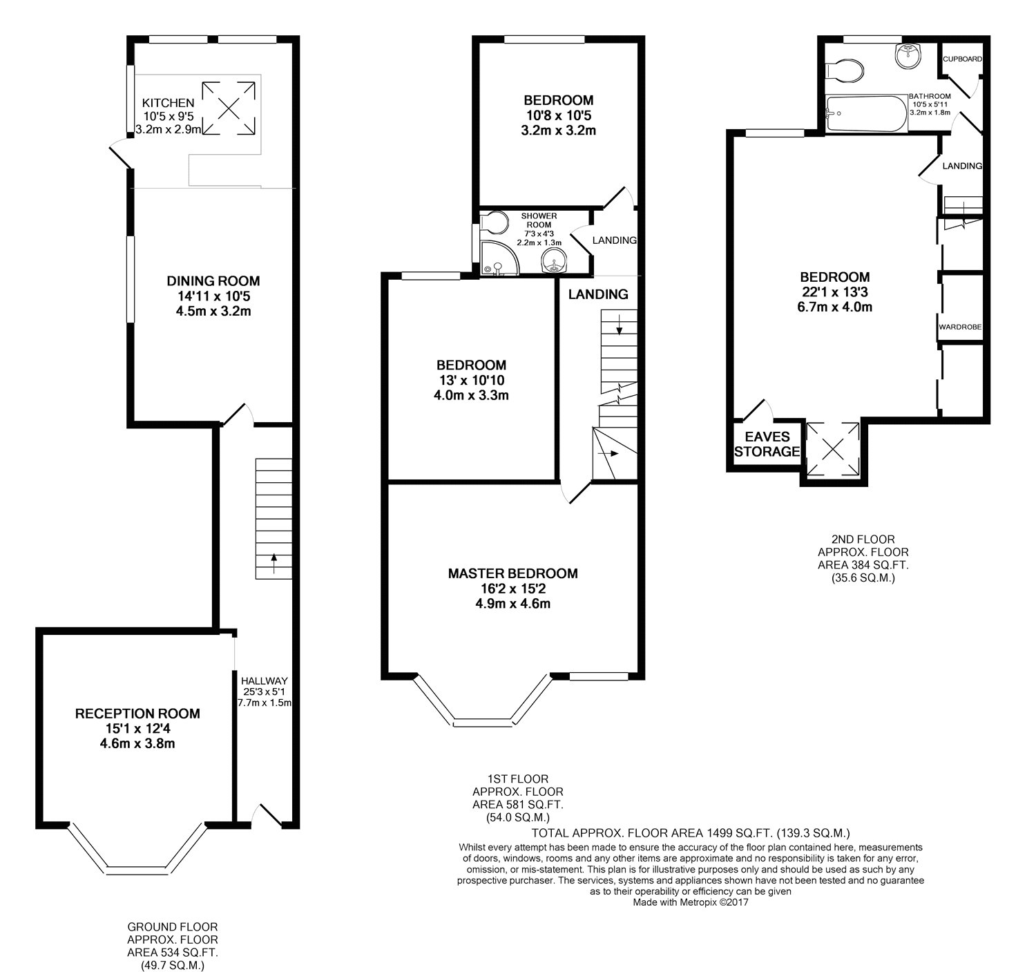 Floorplan of 4 bedroom House to rent