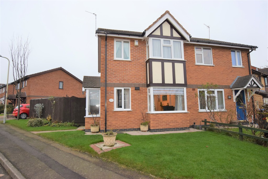 3 Bedrooms Semi Detached House for sale in Marywell Close , Hinckley LE10